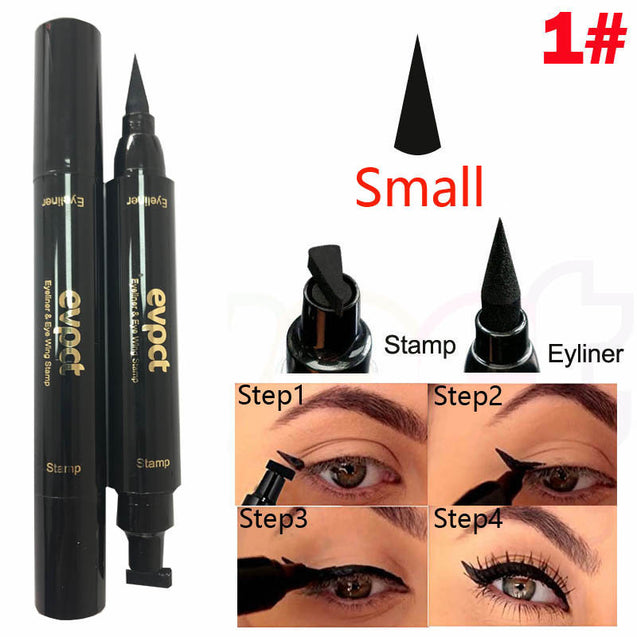 Double Head Eyeliner Big Stamp Cat Eye Cosmetic Makeup