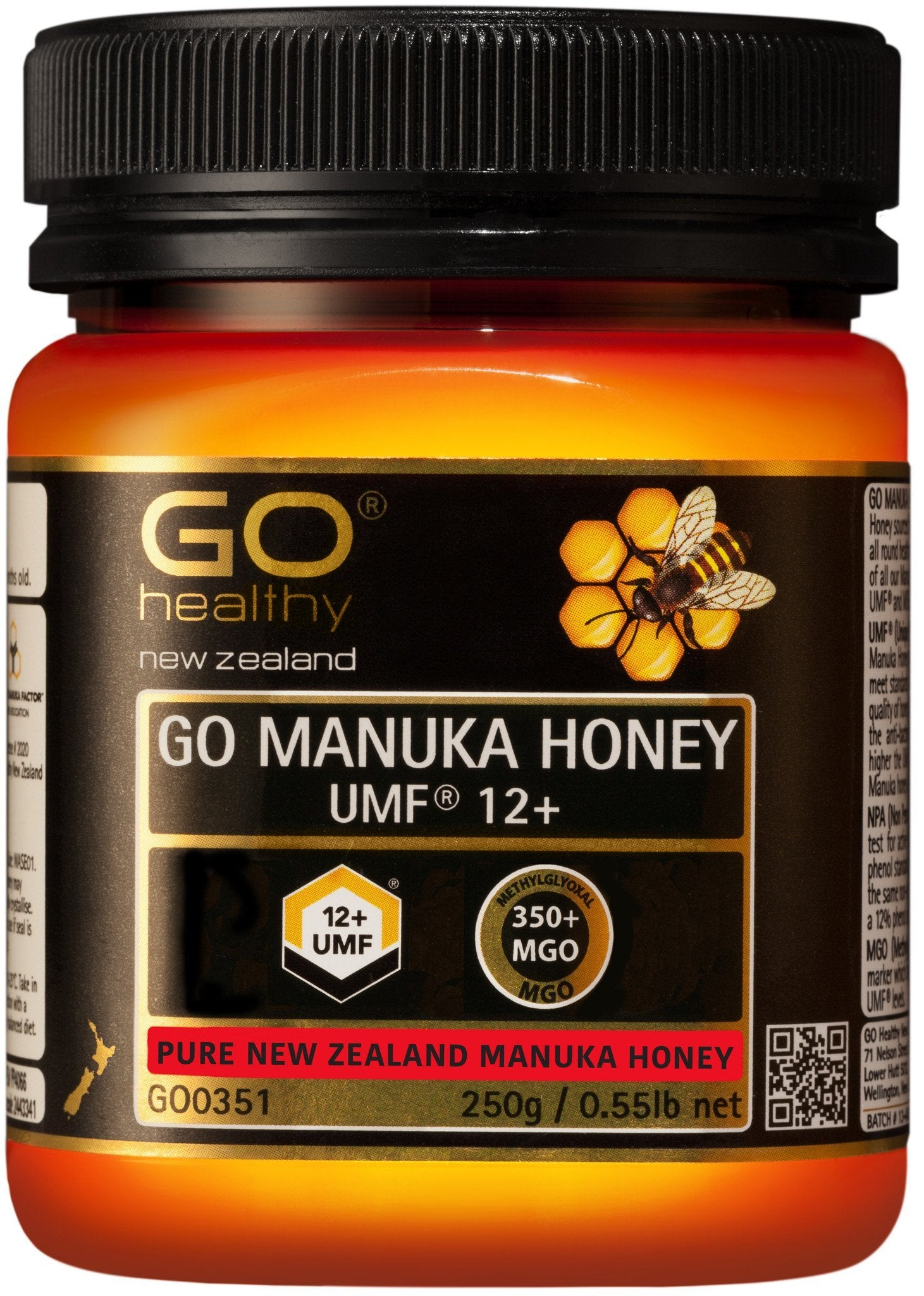 12+ UMF (350+ MGO) Go Manuka Honey 250g