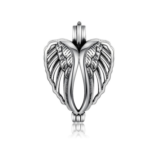 Sterling Silver Angel Wing Cage Pendant