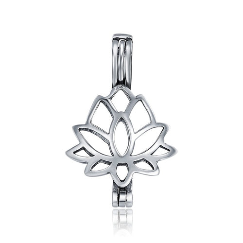 Sterling Silver Lotus Cage Pendant