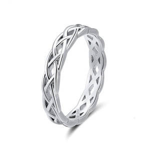 Sterling Silver Twisted Celtic Wedding Band