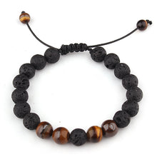 Load image into Gallery viewer, Tiger Eye and Lava Stones Bracelet