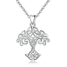 Load image into Gallery viewer, Sterling Silver Tree of Life Necklace Pendant Celtics Knot