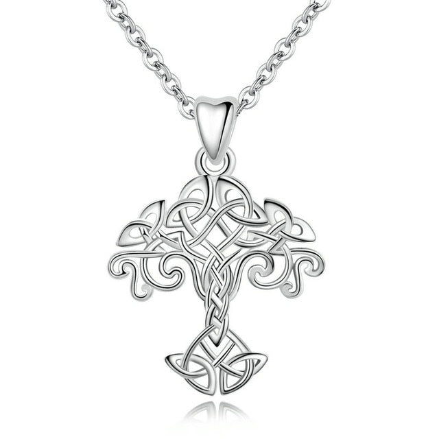 Sterling Silver Tree of Life Necklace Pendant Celtics Knot