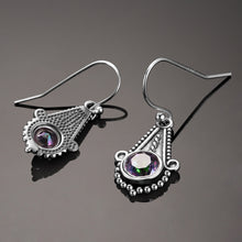 Load image into Gallery viewer, Sterling Silver Mysterious Topaz Rainbow Earrings