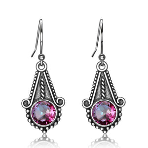 Sterling Silver Mysterious Topaz Rainbow Earrings