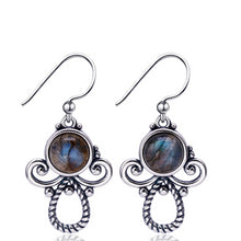 Load image into Gallery viewer, Sterling Silver Natural Labradorite Cute Earrings