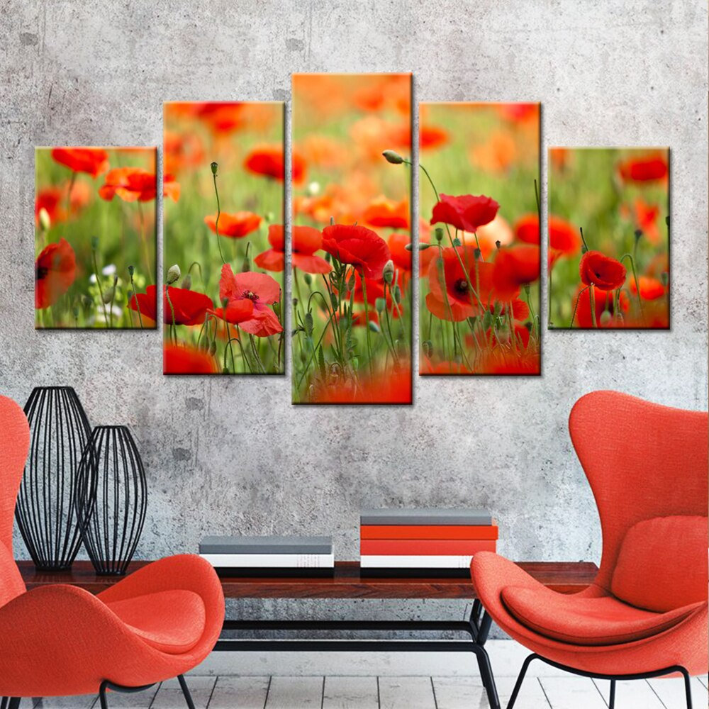 The Canadian Red Poppy Flower Canvas LEST WE FORGET