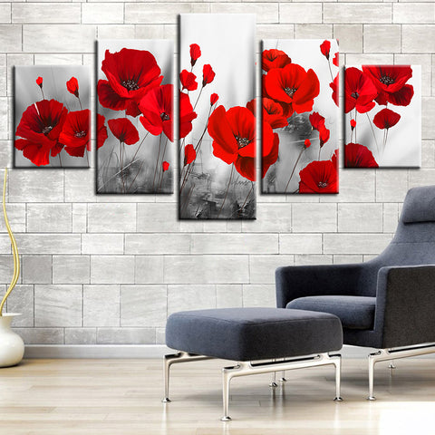 Australia and New Zealand Red Poppy Canvas for Remembrance Day