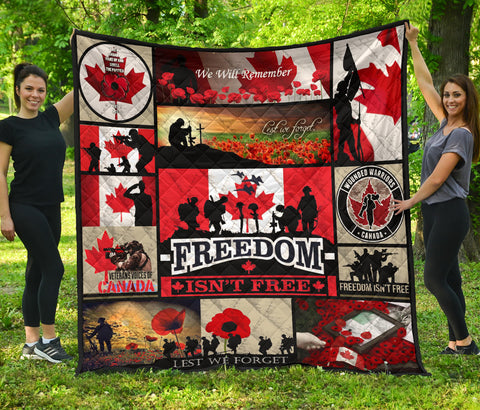 The Canadian Veterans Freedom Isn't Free Premium Quilt