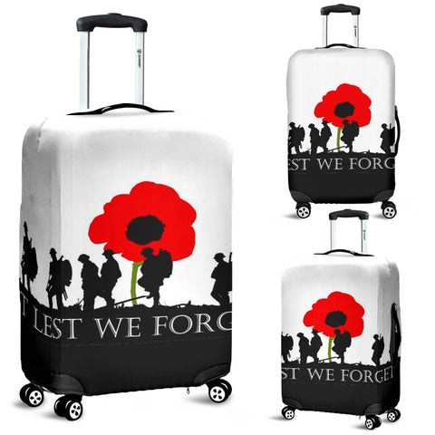Lest We Forget Luggage Covers Flags Vets