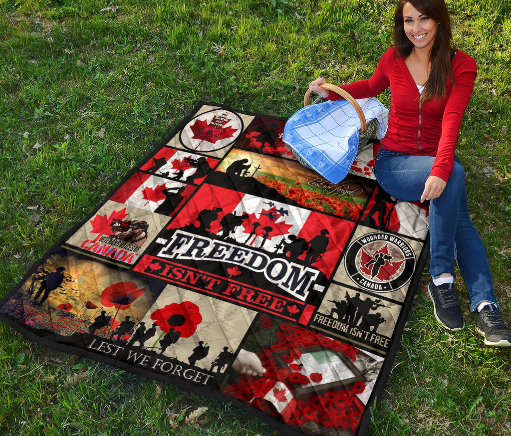 The Canadian Veterans Freedom Premium Quilt Christmas Day Gift