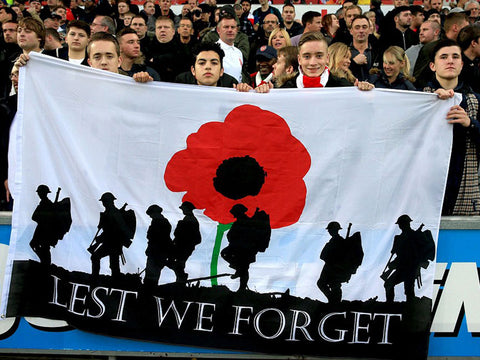 Lest We Forget Red Poppies Flag