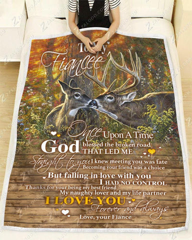 BLANKET - DEER - To my Fiancee - God Blessed The Broken Road