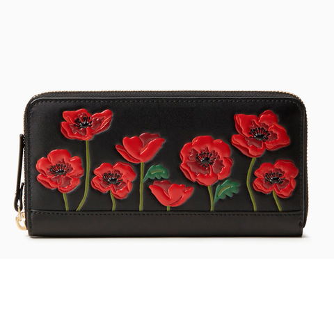 Red Poppy LEST WE FORGET Remembrance Day Wallet Case