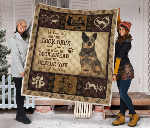 QUILT - DOGS - AUSTRALIAN CATTLE BESIDE YOU