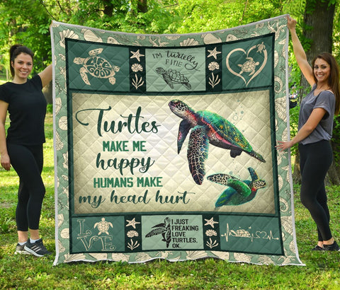 Love Turtles Premium Quilts Christmas Day Gift