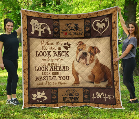 QUILT - DOGS - ENGLISH BULLDOG BESIDE YOU