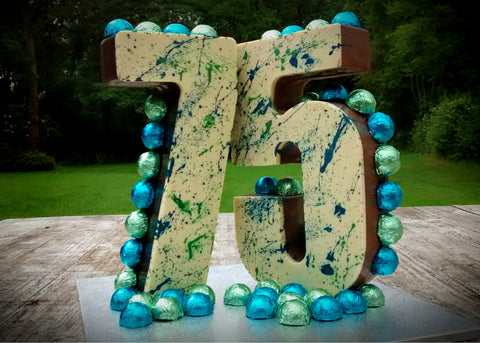 75th Birthday Chocolate Sculpture