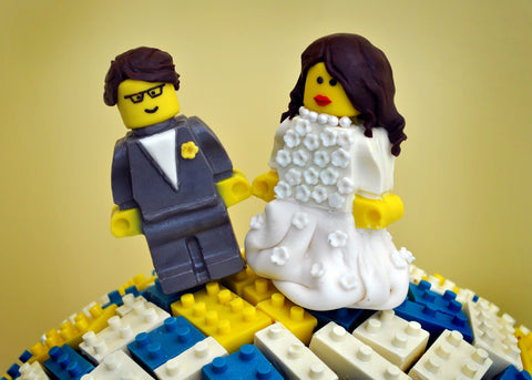 Chocolate Lego Bride & Groom