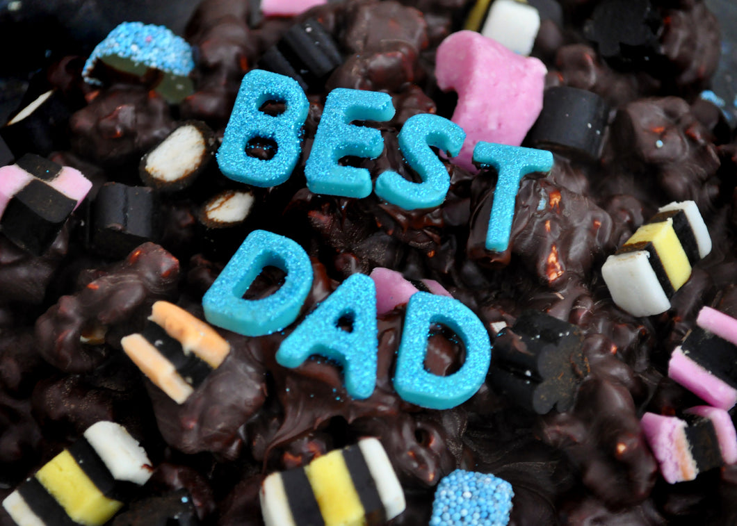 Father's Day 'Best Dad' Popcorn Liquorice Allsorts Lolly