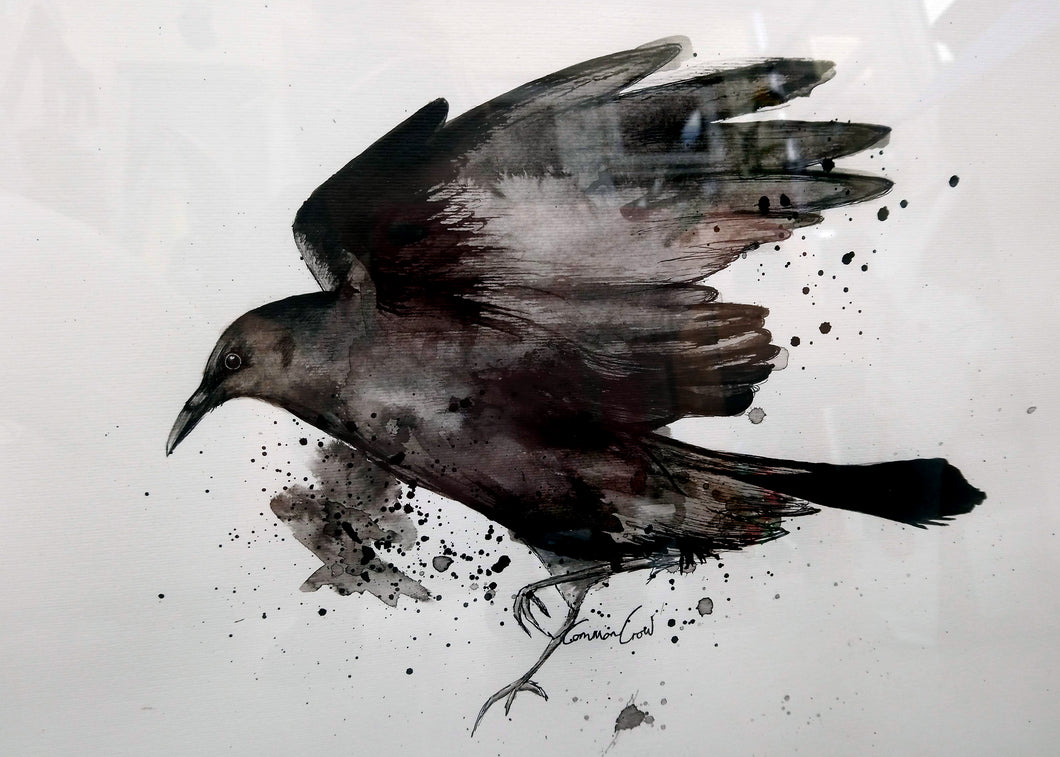 Crow Ink Painting - Original Artwork