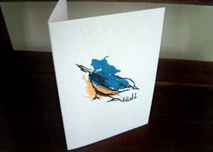 Nuthatch Handmade Bird Card