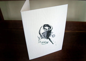 Long Tailed Tit Handmade Bird Card