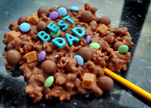 Father's Day 'Best Dad' Popcorn Fudge Sweetie Lolly