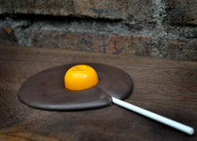 Vegan Fried Chocolate Egg Lolly with Runny Yolk