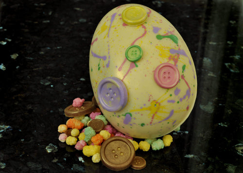White Chocolate Rainbow Button Egg