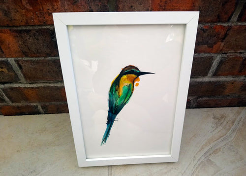 Bee-Eater Ink Painting - Original Abstract Artwork