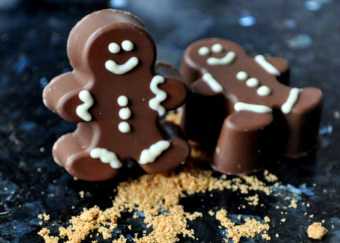 Milk Chocolate Gingerbread Men Truffles