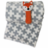Blanket with Plush Rattle