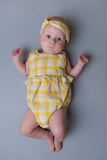 Nora Romper - Yellow Gingham
