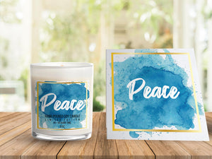 Peace card + candle