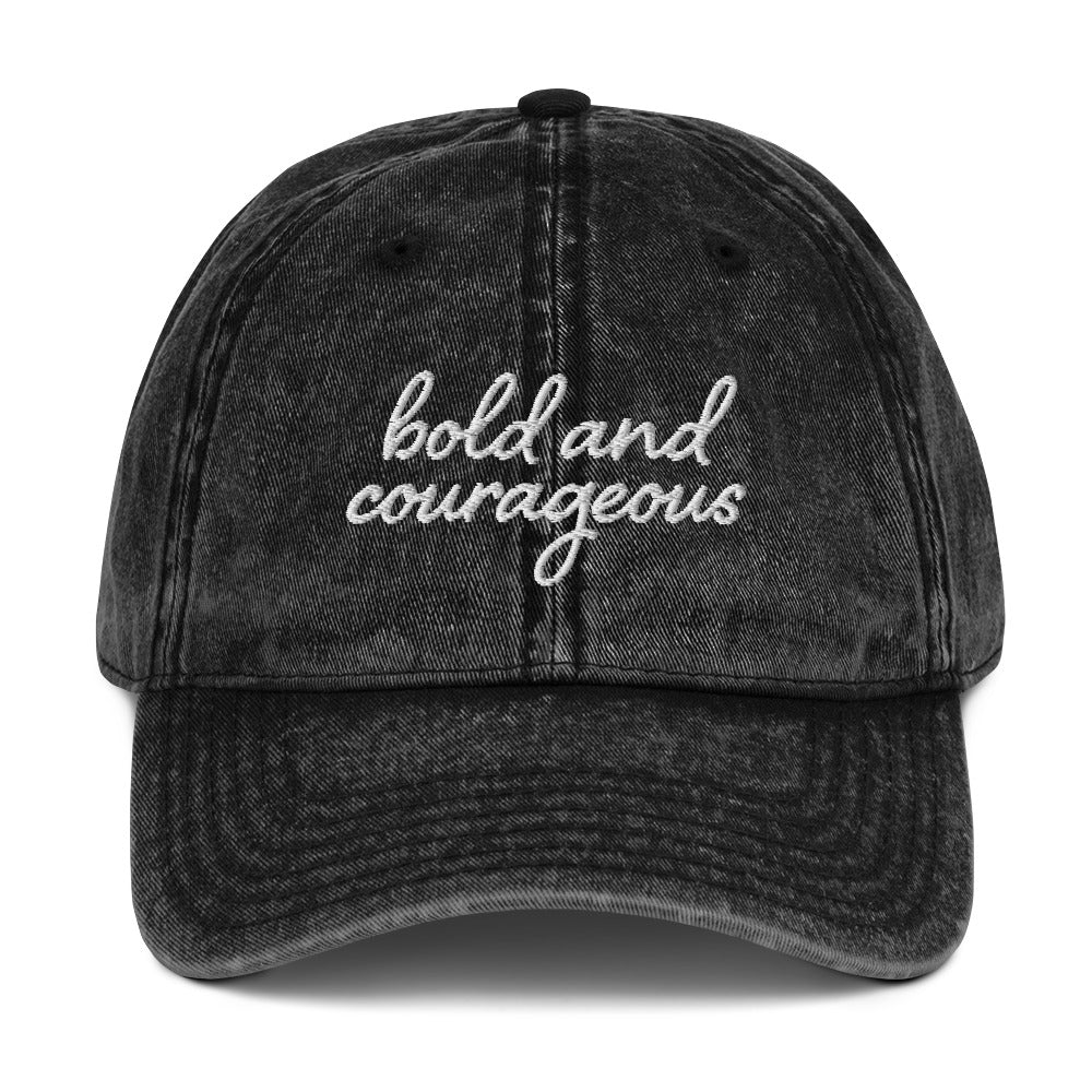 Bold and Courageous Vintage Cap