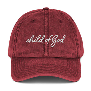 Child of God Vintage Cap