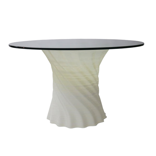 Crawl Dining Table Round Glass