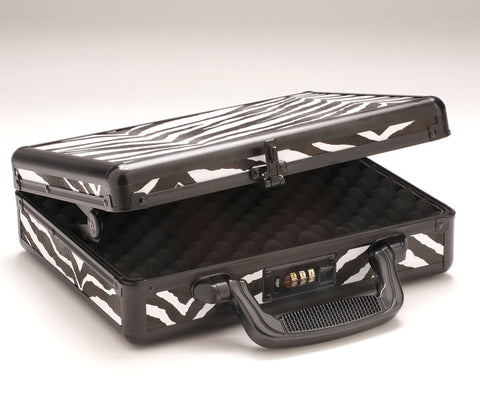 Zebra Print Locking Gun Case