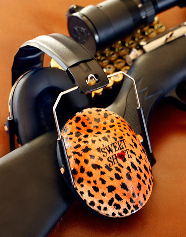 Sweet Shot leopard print passive ear muffs
