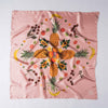 guava pink hawaii fruit tropical local produce silk scarf made in italy silk twill