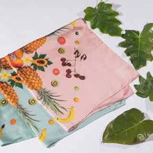 Load image into Gallery viewer, Pink or Silver Blue Silk Twill Scarf - Chinatown Fruit Salad