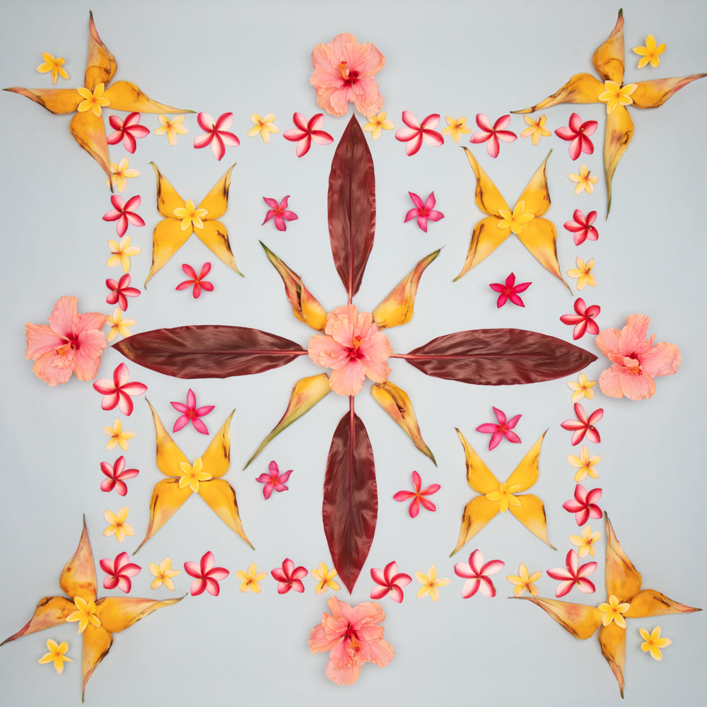 heliconia butterfly print with hibiscus plumeria inspired by hawaiian quilt