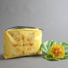 tropical flower designed pouch