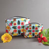 Water Resistant, makeup pouch, bikini bag, wet bag, water resistant makeup pouch, hibiscus design, designed in hawaii, hawaii tropical bag