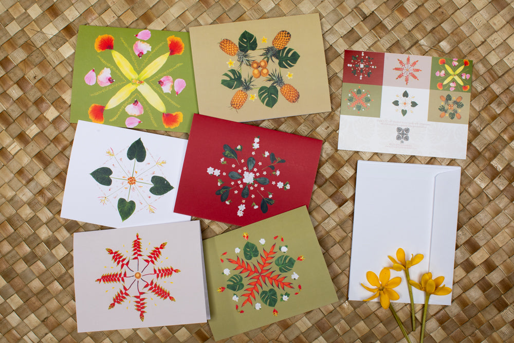 Hawaiian Snowflake Collection - Holiday Cards