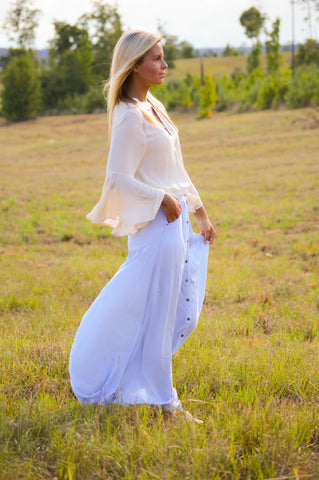 Denim Goddess Maxi Skirt