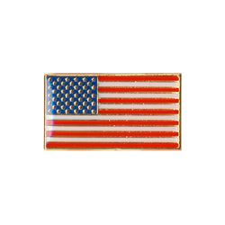 Classic Rectangular US Flag Pin - Pinfinder Club