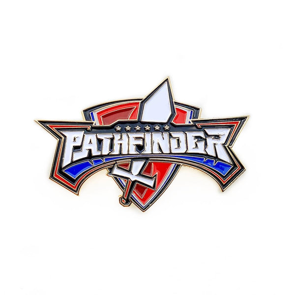 Pathfinder Sword and Shield Pin - Pinfinder Club